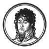 """Иоахим Мюрат (1767—1815) — сын трактирщика, генерал, муж сестры Наполеона (1800), самый знаменитый наполеоновский маршал и король Неаполитанский (1808). Расстрелян в Неаполе в 1815 году. Илл. к пьесе С.Гитри """"Наполеон"""", Париж, 1955"""