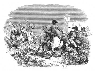 Итальянская кампания 1800 г. В сражении при Маренго 14 июня 1800 г. Наполеон Бонапарт в гуще боя. Присутствие первого консула вдохновляет войска. Histoire de l'empereur Napoléon. Париж, 1840