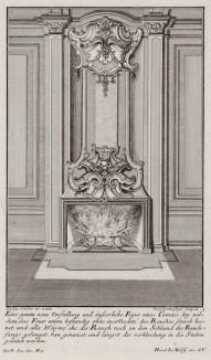 Камин в интерьере рококо. Johann Jacob Schueblers Beylag zur Ersten Ausgab seines vorhabenden Wercks. Нюрнберг, 1730