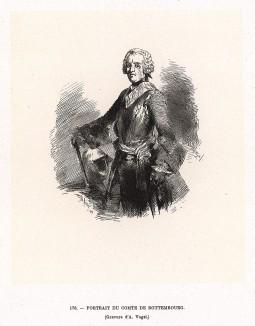 Граф Фридрих Рудольф фон Роттембург. Фридрих II ценил его как превосходного солдата, который сражался последовательно под знамёнами Франции, Испании и Пруссии. Особо отличился в битве при Хотузице 17 мая 1742 г. Умер на руках прусского короля.