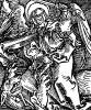 Архангел Михаил. Ганс Бальдунг Грин. Иллюстрация к Hortulus Animae. Издал Martin Flach. Страсбург, 1512