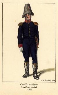 1810 г. Адъютант хорватской военной администрации Великой армии Наполеона, состоящий в чине бригадного генерала. Коллекция Роберта фон Арнольди. Германия, 1911-29