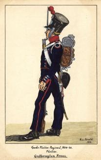 1809-30 гг. Пехотинец фузилерного полка лейб-гвардии великого герцогства Гессен. Коллекция Роберта фон Арнольди. Германия, 1911-29