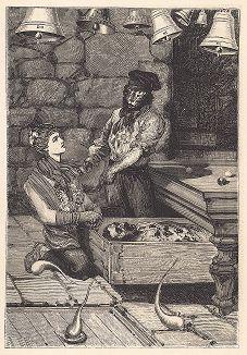 """Четырнадцатый лист серии """"Бельфорский лев"""" Макса Эрнста, входящей в роман-коллаж """"Une Semaine de bonté"""" (Неделя доброты), 1934 год."""