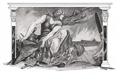 Воинственная Франция. Илл. Франца Стассена, Die Deutschen Befreiungskriege 1806-1815. Берлин, 1901