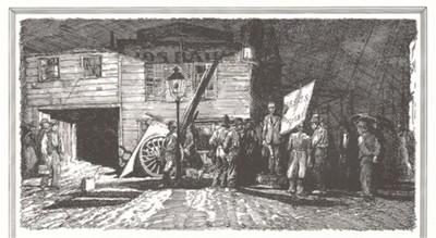 Собрание местных жителей. Рисунок известного американского художника Уолтера Д. Дункана.