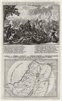 1. Битва под Гаваоном 2. Карта Израиля и Иудеи (из Biblisches Engel- und Kunstwerk -- шедевра германского барокко. Гравировал неподражаемый Иоганн Ульрих Краусс в Аугсбурге в 1700 году)