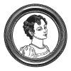 """Элеонора Денюэль де ла Плень (1787–1868) - любовница императора Франции Наполеона I, мать его первого внебрачного сына Шарля, графа Леона (1806-1881), впоследствии графиня фон Люксбург. Илл. к пьесе С.Гитри """"Наполеон"""", Париж, 1955"""