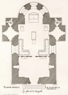 Часовня в замке Анэ. План. Androuet du Cerceau. Les plus excellents bâtiments de France. Париж, 1579. Репринт 1870 г.