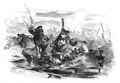 2 декабря 1805 г. Сражение под Аустерлицем. В течение дня французы выбивают русских и австрийцев со всех возвышенностей и теснят их к озеру. Двадцать тысяч человек гибнут в ледяной воде. Histoire de l'empereur Napoléon. Париж, 1840