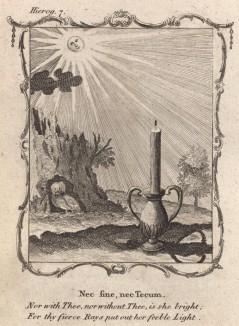 """Свет солнца ярче мерцания свечи (из бестселлера XVII -- XVIII веков """"Символы божественные и моральные и загадки жизни человека"""" Фрэнсиса Кварльса (лондонское издание 1788 года))"""