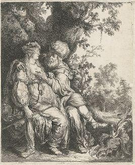 Иуда и Фамарь. Гравюра Питера Ластмана.