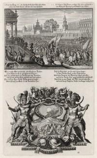 1. Войско израильтян под Дофаимом 2. Прокажённые в сирийском военном стане (из Biblisches Engel- und Kunstwerk -- шедевра германского барокко. Гравировал неподражаемый Иоганн Ульрих Краусс в Аугсбурге в 1700 году)