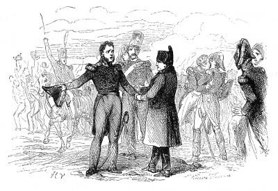 17 марта 1815 г. в Оксере к императору Наполеону присоединяется «отважный из отважных» маршал Ней и его 14-й полк линейной пехоты. Histoire de l'empereur Napoléon, Париж, 1840