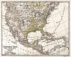 Физическая карта Соединённых Штатов Америки, Мексики и Антильских островов. Новый учебный географический атлас для полного гимназического курса, состоящий из 38 карт. Санкт-Петербург, 1907