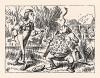 Как сумел удержать ты живого угря в равновесье на кончике носа? (иллюстрация Джона Тенниела к книге Льюиса Кэрролла «Алиса в Стране Чудес», выпущенной в Лондоне в 1870 году)
