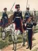 Униформа казачьего эскадрона прусской гвардии образца 1813-15 гг. Uniformenkunde Рихарда Кнотеля, часть 2, л.25. Ратенау (Германия), 1891