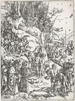 Казнь десяти тысяч мучеников в Никомедии. Ксилография Альбрехта Дюрера 1497 года. Отпечаток около 1560 года.