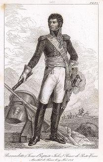Жан-Батист Жюль Бернадот (1763-1844), маршал Франции с 1804 года. Galerie des Marechaux de France par Ch. Gavard, Париж, 1839 год.