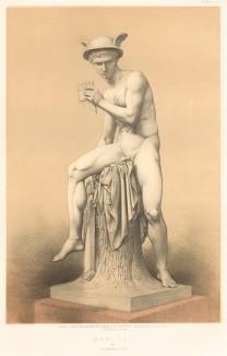 Меркурий, вооружённый сиринксом, или флейтой Пана, от знаменитого датского скульптора Бертеля Торльвадсена (Каталог Всемирной выставки в Лондоне. 1862 год. Том 1. Лист 19)