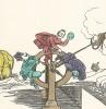 """Колесо счастья кайзера Вильгельма. """"Картинки - война русских с немцами"""". Петроград, 1915"""