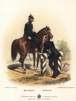 Военные медики прусской армии в униформе образца 1870-х гг. Preussens Heer. Берлин, 1876
