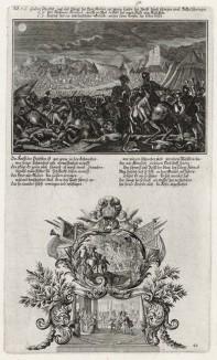 1. Гедеон на поле битвы 2. Победа Гедеона и израильтян над мадианитянами (из Biblisches Engel- und Kunstwerk -- шедевра германского барокко. Гравировал неподражаемый Иоганн Ульрих Краусс в Аугсбурге в 1700 году)