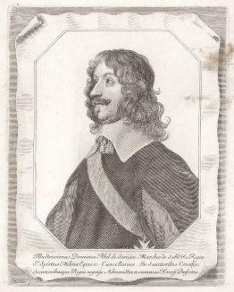 Маркиз Абель Сервен де Сабле (1593--1669) - французский политик и литератор, один из основателей Французской академии.