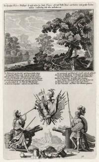 1. Пророк Наум 2. Пророчество Наума (из Biblisches Engel- und Kunstwerk -- шедевра германского барокко. Гравировал неподражаемый Иоганн Ульрих Краусс в Аугсбурге в 1700 году)