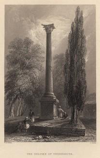 Константинополь (Стамбул). Колонна Феодосия. The Beauties of the Bosphorus, by miss Pardoe. Лондон, 1839
