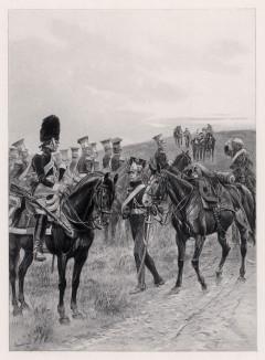 """Польские уланы возвращаются из боя (1809 год) (иллюстрация к известной работе """"Кавалерия Наполеона"""", изданной в Париже в 1895 году)"""