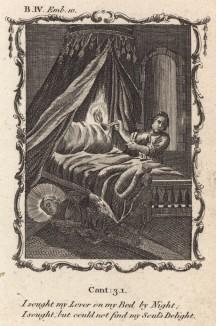"""Я ищу и не нахожу в постели своего возлюбленного (из бестселлера XVII -- XVIII веков """"Символы божественные и моральные и загадки жизни человека"""" Фрэнсиса Кварльса (лондонское издание 1788 года))"""