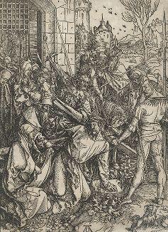 Несение креста. Ксилография Альбрехта Дюрера из сюиты «Большие Страсти», ок. 1500 года.