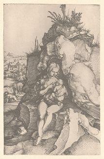 Покаяние Святого Иоанна Златоуста. Гравюра Альбрехта Дюрера, выполненная ок. 1497 года (Репринт 1928 года. Лейпциг)