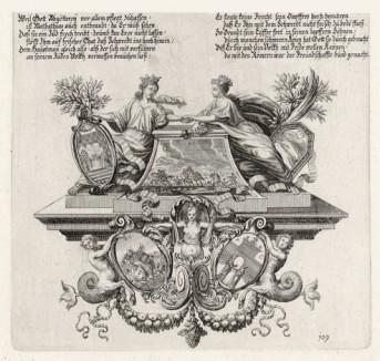 Пророчество Маккавея (из Biblisches Engel- und Kunstwerk -- шедевра германского барокко. Гравировал неподражаемый Иоганн Ульрих Краусс в Аугсбурге в 1700 году)