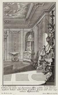 Кабинет с солнечными часами на потолке. Johann Jacob Schueblers Beylag zur Ersten Ausgab seines vorhabenden Wercks. Нюрнберг, 1730