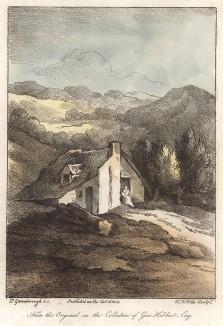 Сельский дом. Гравюра с рисунка знаменитого английского пейзажиста Томаса Гейнсборо из коллекции Дж. Хибберта. A Collection of Prints ...of Tho. Gainsborough, Лондон, 1819.