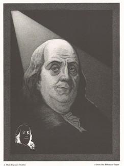 Бенжамин Франклин. Гравюра с известного портрета Жозефа Дюплесси, написанного в 1785 году.