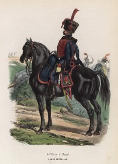 Гвардейский конный артиллерист (из популярной работы Histoire de l'empereur Napoléon (фр.), изданной в Париже в 1840 году с иллюстрациями Ораса Верне и Ипполита Белланжа)