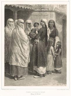 26 августа 1837 года. Крымские татарки из Байдара (из Voyage dans la Russie Méridionale et la Crimée... Париж. 1848 год (лист 51))