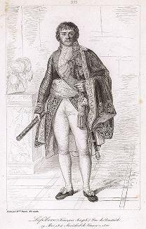 Франсуа Жозеф Лефевр (1755--1820), почетный маршал Франции с 1804 года. Galerie des Marechaux de France par Ch. Gavard, Париж, 1839 год.