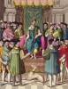 Король Франциск I (1494--1547) на троне (из работы Джулио Феррарио Il costume antico e moderno, o, storia... di tutti i popoli antichi e moderni (Европа. Том V. Милан. 1826 год))