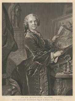 Портрет художника Жан-Батиста Массе (1687-1767), выполненный Иоганном Георгом Виллем по оригиналу Луи Токе, 1755 год.