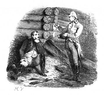 3 декабря 1805 г. На следующий день после поражения под Аустерлицем австрийский князь Иоганн Лихтенштейн прибывает на аудиенцию к императору Наполеону в его штаб-квартиру, расположенную на сеновале. Histoire de l'empereur Napoléon. Париж, 1840