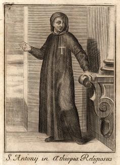 Монах ордена Святого Антония (Эфиопия). Считается одним из старейших рыцарских орденов мира и стоит особняком среди императорских и государственных орденов Эфиопии. По преданию, был учреждён в 370 г. как духовно-рыцарский орден негусом,