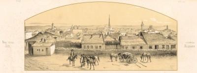 Вид города Яссы, столицы Молдавии. Русский художественный листок, №26, 1853