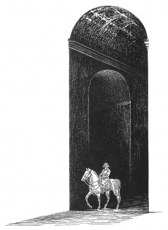 """Тень императора. Иллюстрация к пьесе С.Гитри """"Наполеон"""". Париж, 1955"""