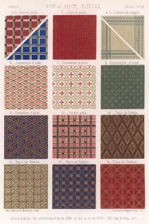 Орнаменты средневековых французских тканей: покрывала для алтаря, скатерти и гобелены (из Les arts somptuaires... Париж. 1858 год)