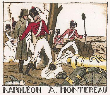 Наполеон в сражении при Монтро. Pictorial History of Napoleon by Andre Collot, 1930.