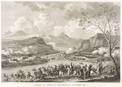 Сражение при Тальяменто 16 марта 1797 г. Tableaux historiques des campagnes d'Italie depuis l'аn IV jusqu'á la bataille de Marengo. Париж, 1807